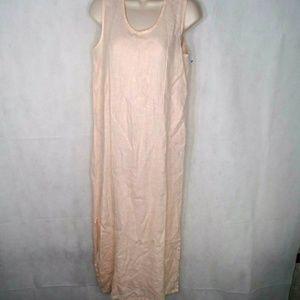 Flax Maxi Linen Dress Women Size Petite XS 4 6